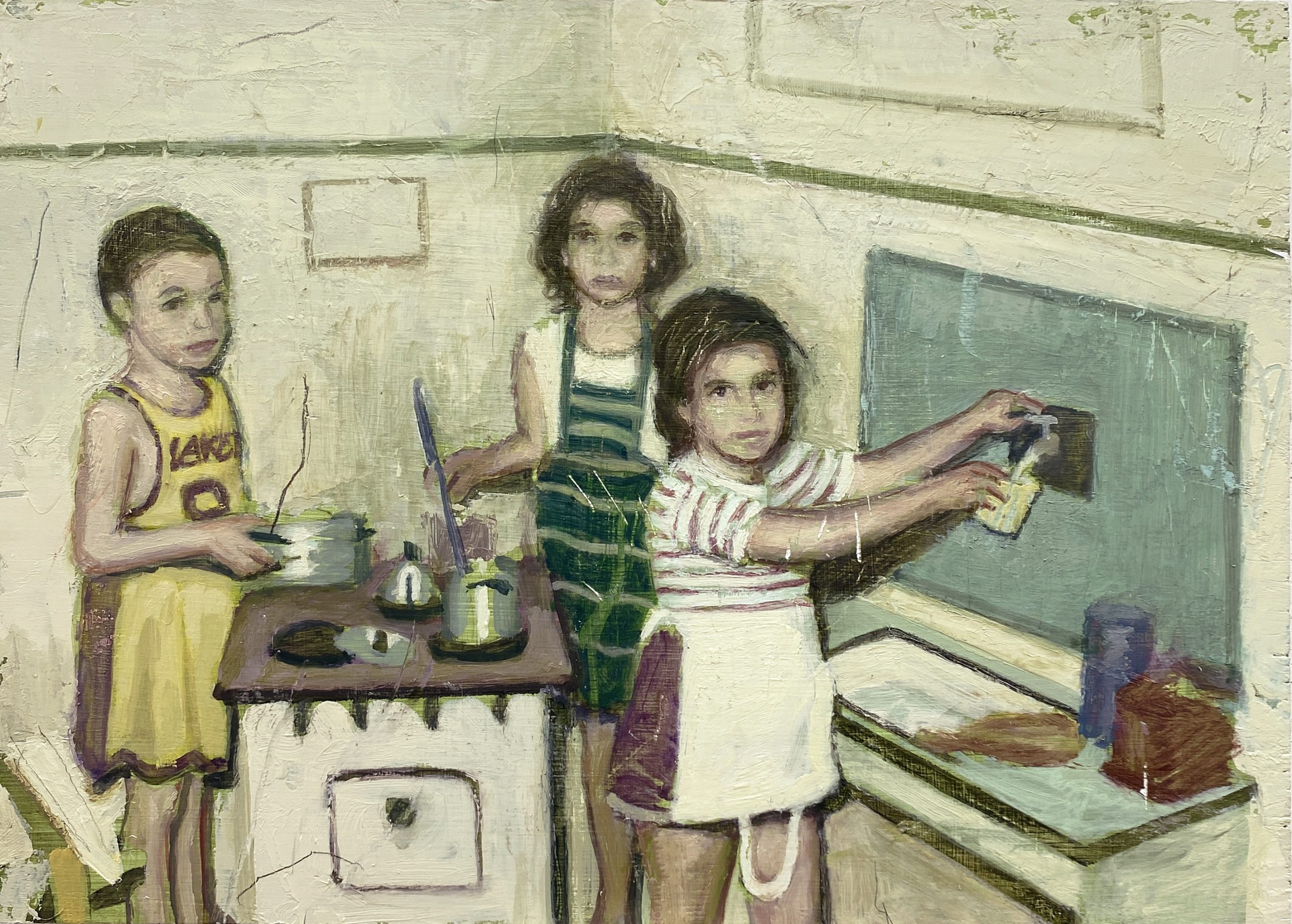 niños cuadro pintura